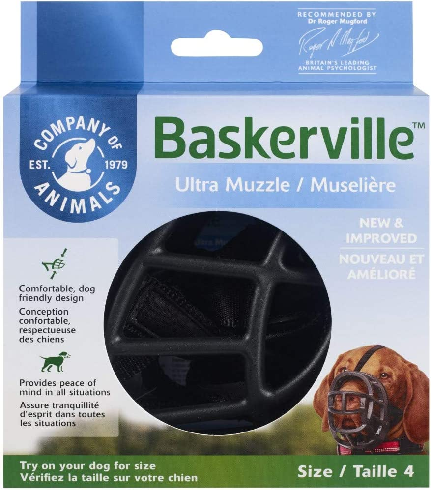 Baskerville Ultra Muzzle Size 4 Black (017033)