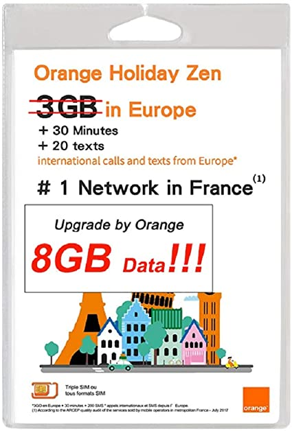 Amazon.com: Orange Holiday Europe Prepaid - Tarjeta SIM (8 ...