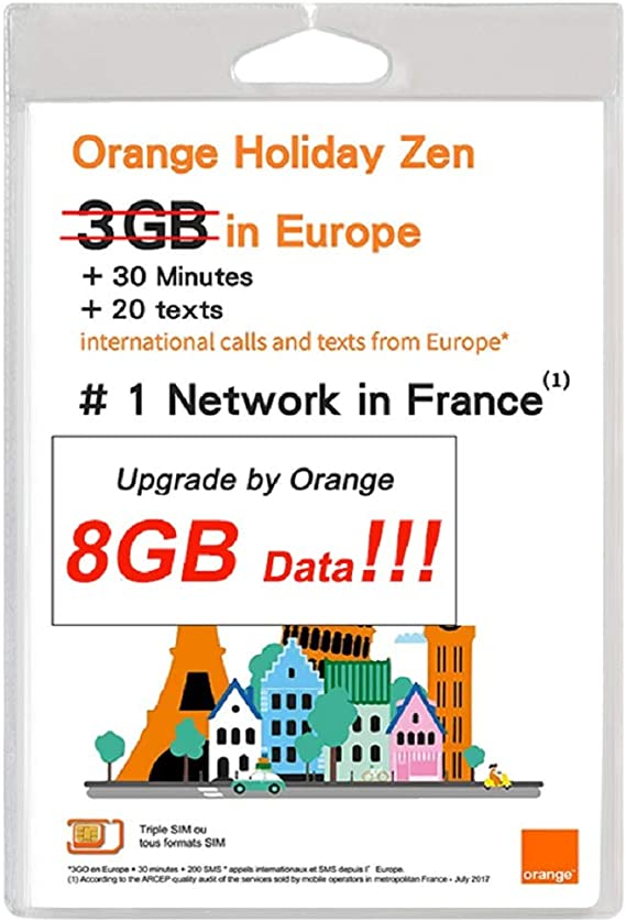 orange activation carte sim Amazon.com: 新品 Orange Holiday Europe   3GB InterData in 4G