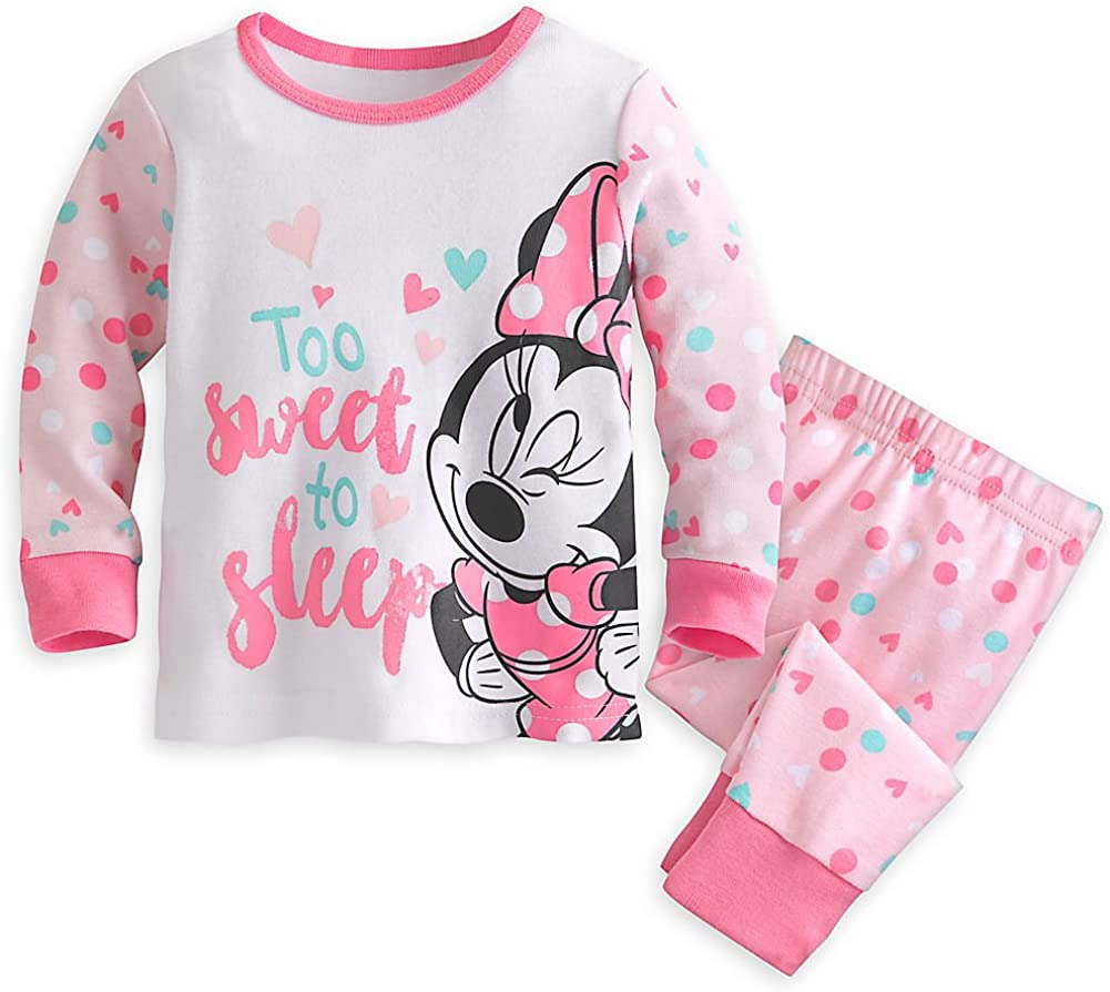 TDP Girls Minnie Mouse Pyjamas Toddlers Nightwear Baby Wear 12 Months to 5 Years