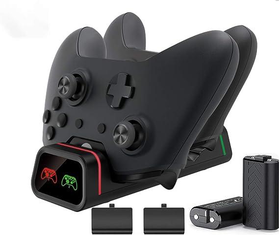 Cargador de mando Xbox One, estación de carga dual Xbox One/One S ...