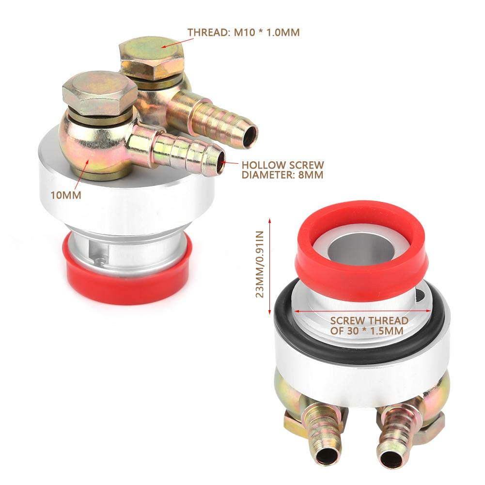 KIMISS Motorcycle Refit Oil Cooler Adapter Fitting for Honda GY6 100cc-150cc 30 1.5mm Thread