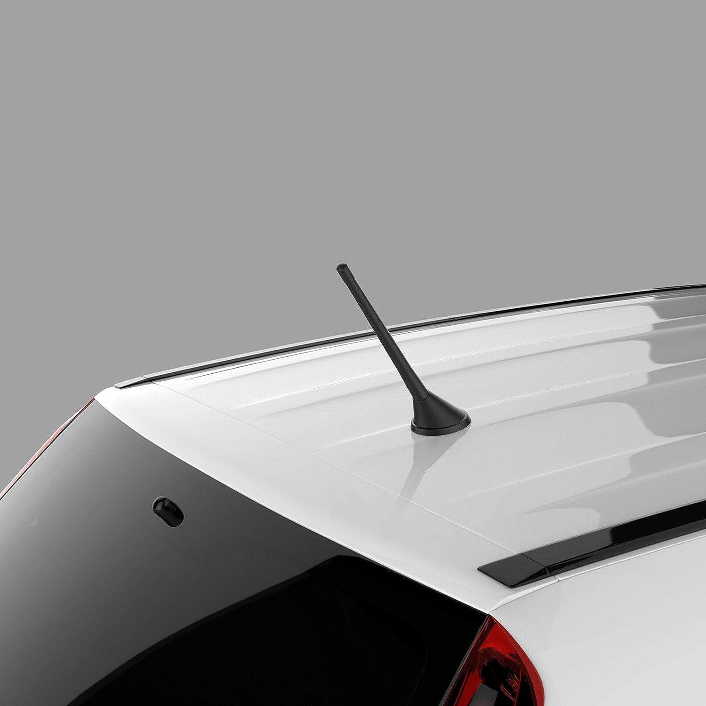 FIAT Skoda und Volvo VW Renault Seat Navitec Stabantenne 17 cm I Ersatzantenne inkl Adapterschrauben I geeignet f/ür Audi Opel BMW