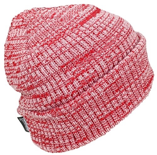 (Best Winter Hats 3M 40 Gram Thinsulate Insulated Cuffed Knit Beanie (One Size) - Red/White)