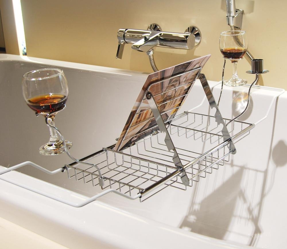 chinkyboo New Chrome Bath Rack Organizer Over bath Tidy Over Hanging ...