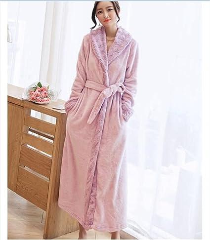 MIWANG Moderno y elegante, la Sra. invierno batas de toalla temperamento a lo largo