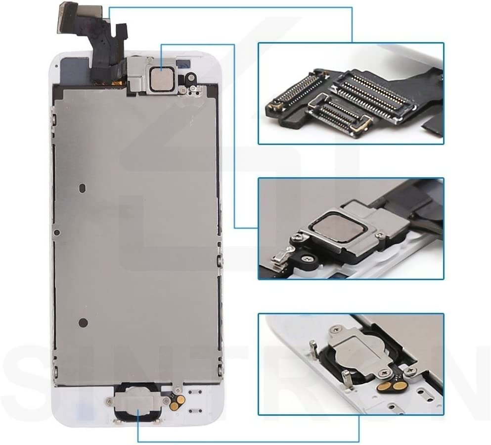 for iPhone 6 4.7 White LCD Display Touch Screen Digitizer Assembly Repair Replacement Including Free Tools Sintron OEM LCD Screen Replacement for iPhone 6, White