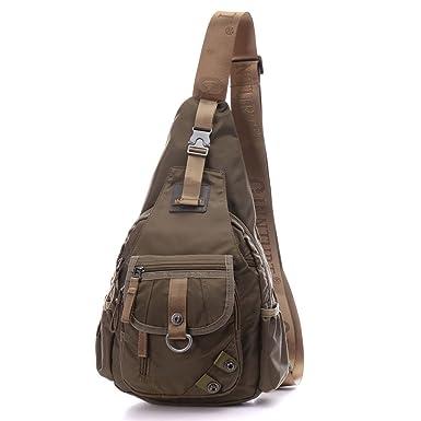 dddh Mochila Crossbody Mochila Nylon Militar Táctico hombro Sling Bag Pecho Bolso Casual Running Outdoor Sports Viaje Daypacks para hombres y mujeres: ...