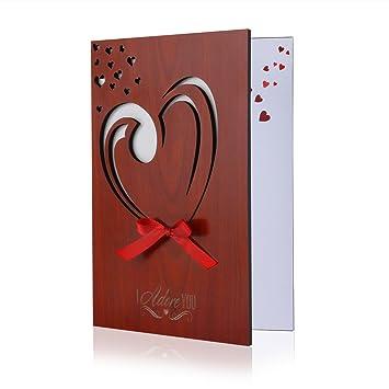 Amazoncom  BESTOMZ Valentines Day Greeting Card Handmade Real