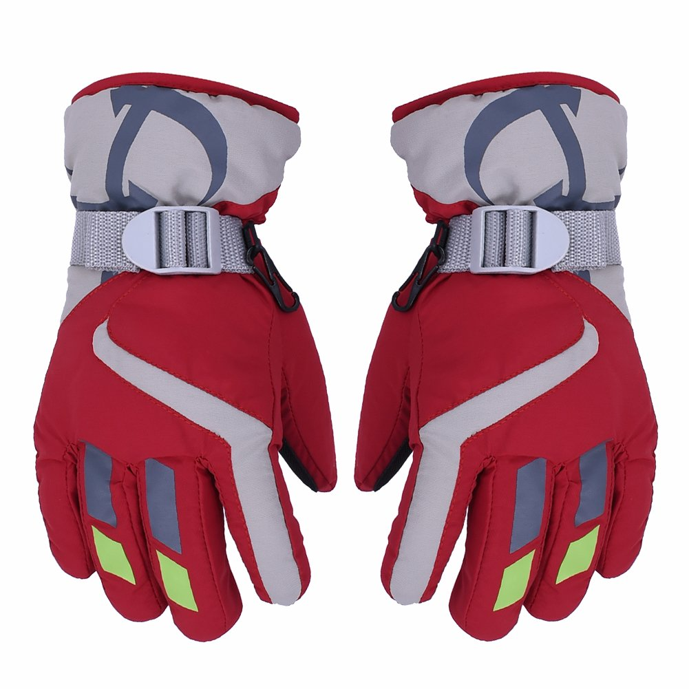 AONIJIE Children's Ski Gloves Waterproof Windproof Warm Lining Outdoor Sports Snow Gloves For 5-10 Years Old Boy & Girls