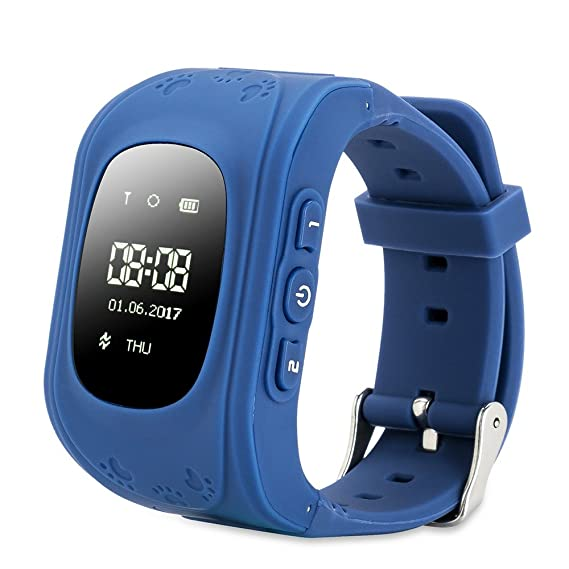 Reloj para Niños,FREESOO Reloj Infantil Pulsera Inteligente Reloj GPS localizador led pantalla Smartwatch Compatible con Android Smartphones (GPS, ...