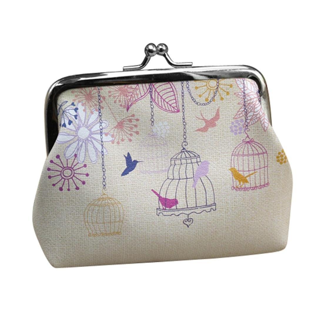 Wallet,toraway Vintage Womens Birdcage Wallet Card Holder Coin Purse Clutch Handbag