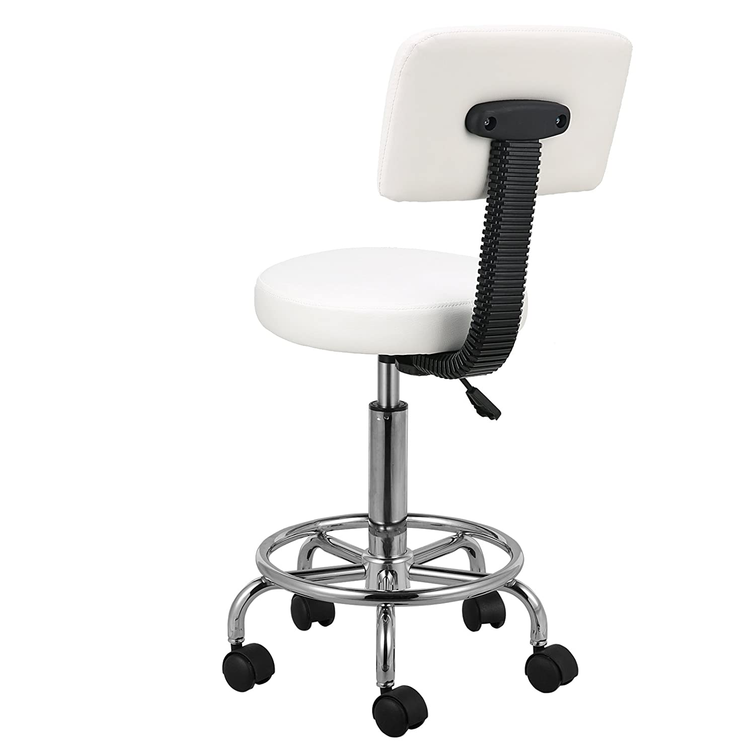 Voilamart Salon Stool Bar Swivel Chair with Back Rest Hydraulic