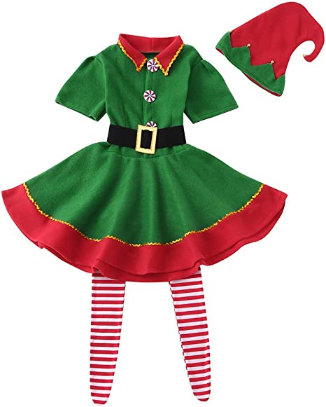 Liqiqi - Conjunto de Disfraces de Navidad para niña, diseño de ...