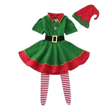 BBsmile Disfraz Infantil para Navidad Unisex Niños de Elfo Vestido ...