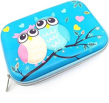ZF - Estuche de Goma EVA para bolígrafos, para Estudiantes, niñas, niños, Adolescentes, niños, búho, Color Azul: Amazon.es: Electrónica
