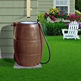 YIMBY RC4000 Rain Catcher Rain Barrel, Colour Brown