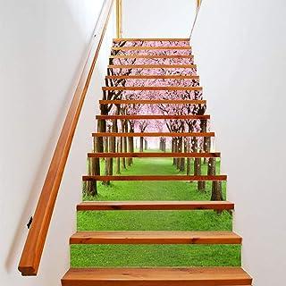 Easy Go Shopping 13 PCS Fai da Te Albero ciliegio originario Beautiful Scenery Street Stairs Sticker Decorazione della casa Decorazione di mobili
