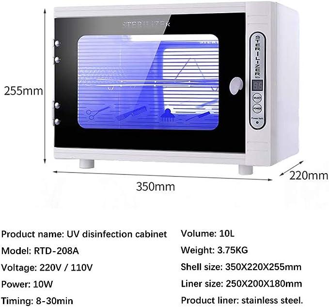 4YANG UV-Desinfektionsschrank UV-Desinfektionsbox aus Edelstahl Drei Timing-Modi medizinische Sterilisatoren Ultraviolett /& Ozon 360 /° f/ür Salon-Sterilisatorschr/änke