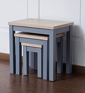 nesting furniture. Sue Ryder Two Tone Nest Of Tables Grey Wood Nesting Furniture Set Three  Small Medium Nesting Furniture
