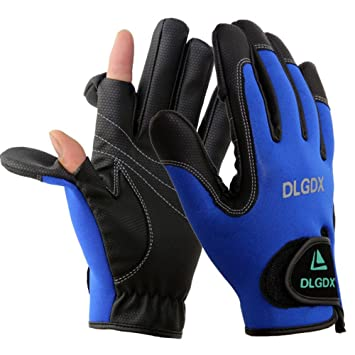 Image result for POSA 2 Cut Fingers Fishing Gloves