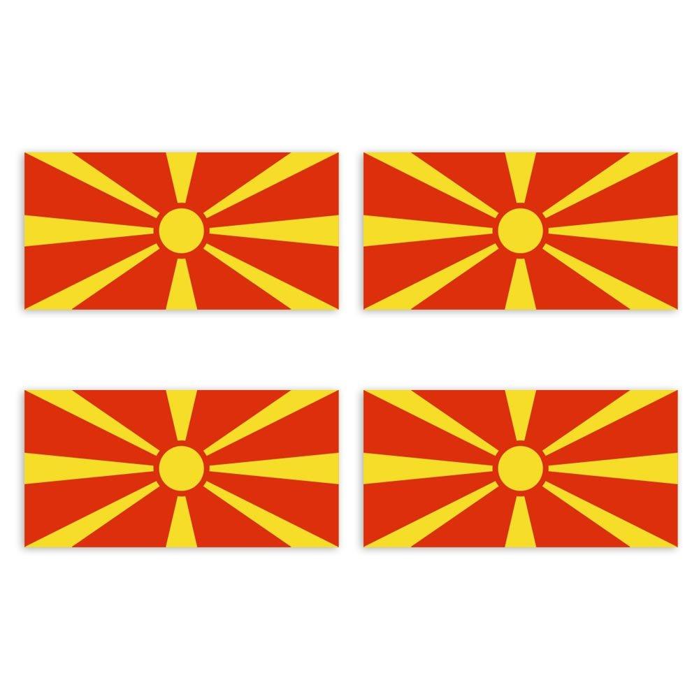 KIWISTAR Aufkleber 4,5 x 2,3 cm Mazedonien Land Staat Autoaufkleber Flagge L/änder Wappen Fahne Sticker Kennzeichen