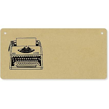 Azeeda Máquina de Escribir Placa de Pared de Madera (DP00031547)