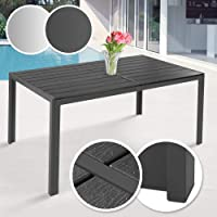 Miadomodo - Table de Jardin Terrasse en Aluminium pour 6 Personnes 150 x 90 x 72 cm (Couleur au Choix)