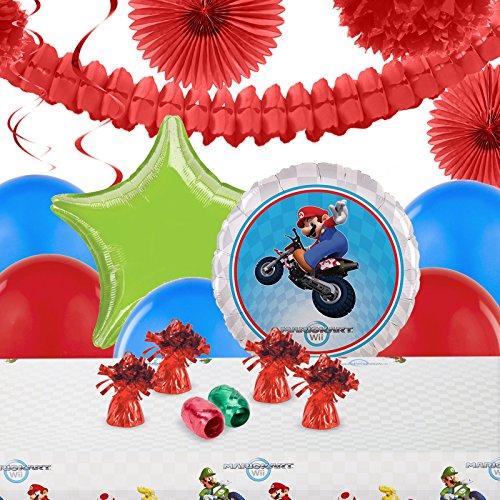 Princess Peach Mario Kart Costumes (Mario Kart Wii Childrens Birthday Party Supplies - Decoration Pack)