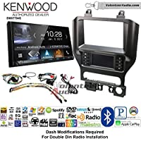 Volunteer Audio Kenwood DMX7704S Double Din Radio Install Kit with Apple CarPlay Android Auto Bluetooth Fits 2015-2017 Mustang