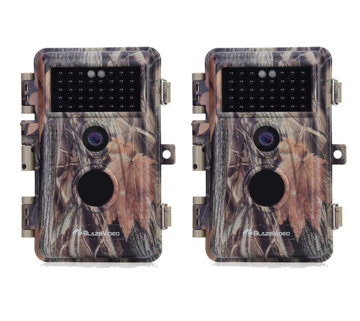 [2020 Upgrade] 2-Pack Game Trail Hunting Deer Cameras 16MP Photo Full HD 1920x1080P Video with Night Vision No Glow Motion Activated 0.6S Trigger Waterproof and Password Protected Photo & Video Model