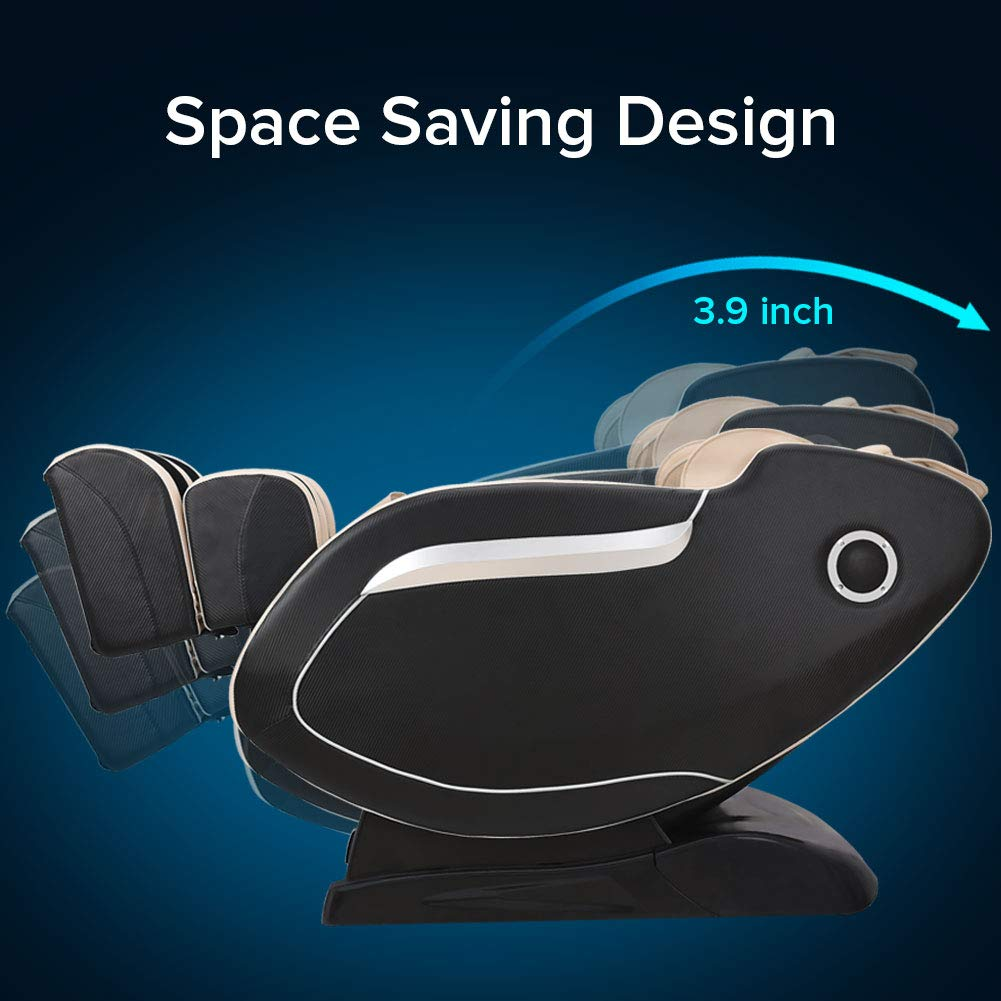 Full-body Zero Gravity Massage Chair 3D Airbag Recliner with SL Track Heating Body Scan Robot Hand for Home Office Beige