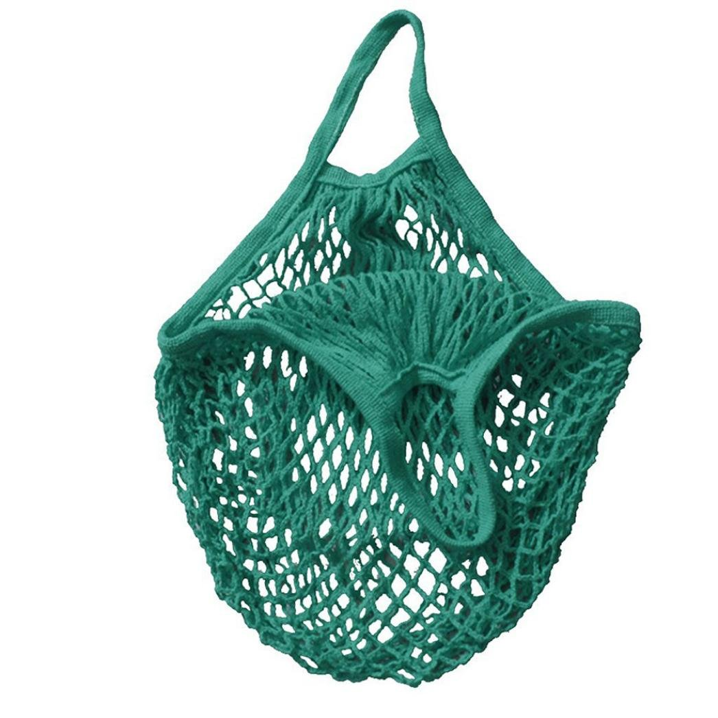 Cinhent Home 32 × 38 × 15 CM Mesh Net Turtle Bag String Shopping Bag Reusable Fruit Totes Storage Handbag - New Produce Bags - Beach Bags For Women Man (Green)