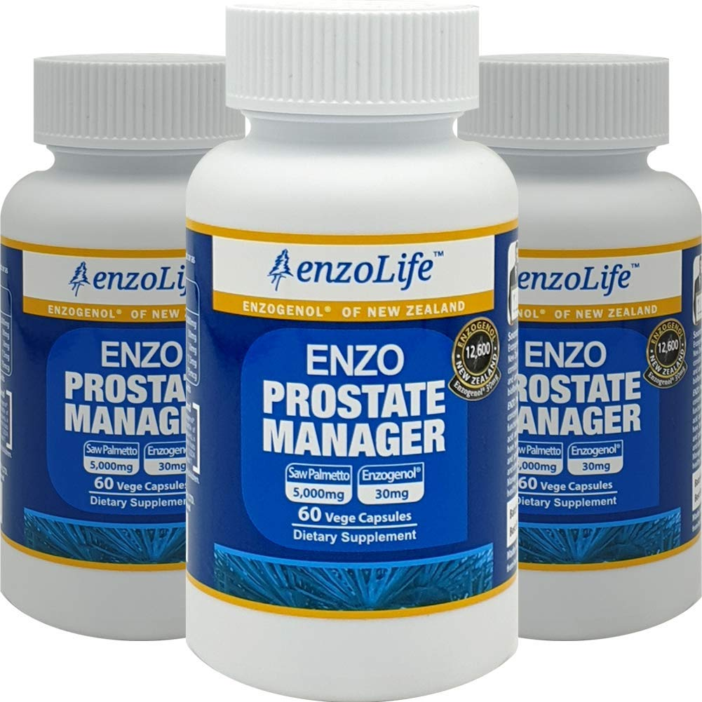 Saw Palmetto Supplement Enzo Prostate Manager 60Capsule New-Zealand (3 Bottle)