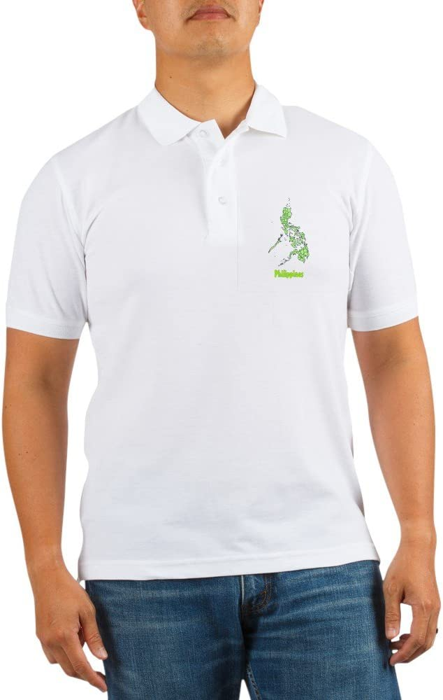 CafePress Map of The Philippines Golf Shirt Golf Polo