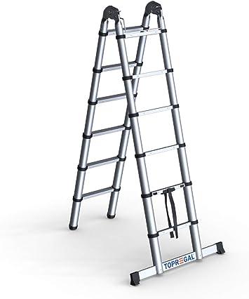 Escalera telescópica, escalera multifunción, escalera plegable, escalera multiusos, escalera de mano: Amazon.es: Bricolaje y herramientas