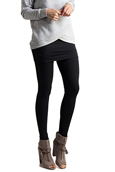 58014e956 Fashionomics Womens Mini Skirt Soft Elasticated Full Length Leggings Black S