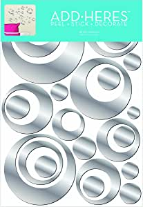 Amazon.com: Lot 26 Studio Retro Circles Adhesive Mirror ...