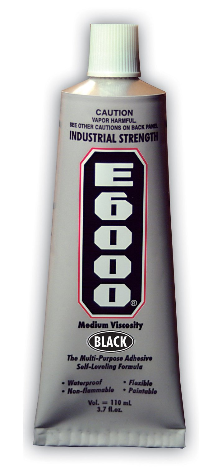 Eclectic Products 230031 2 Pack 3.7 oz. E-6000 Black Med VISC Industrial Strength Adhesive