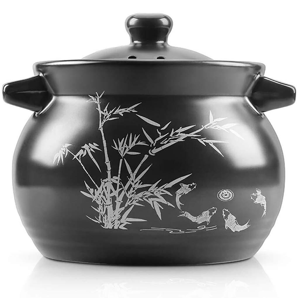 YHLZ Ceramic Casserole Heat-resistant Soup Porridge Porridge Rice Health Soup Pot Household Gas Ceramic Soup Pot High Temperature Resistant(Size:3.5L/5.2L) (Size : 3.5L)