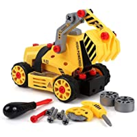 BeebeeRun 7-in-1 DIY Take Apart Truck Car Toys for 3 4 5 6 7 Year Old Boys Girls, Construction Engineering STEM Learning…