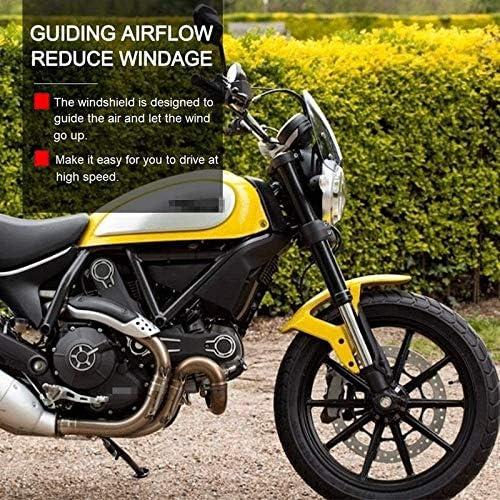Parabrisas Claro Humo Luz XCJ Parabrisas de Motocicleta Viaja A La Motocicleta Parabrisas Delantero Motocicleta Viento Mosquitera Parabrisas Protecci/ón Pantalla Fit For Ducati Scrambler 2015-2019