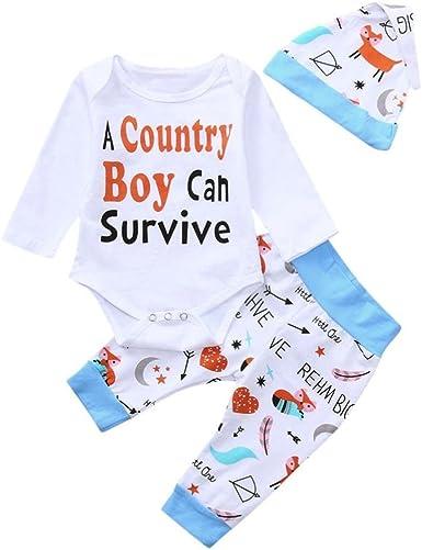 Fenleo Newborn Toddler Baby Girls Boys Cartoon Elephant T-Shirt Tops /& Striped Shorts Outfit Set