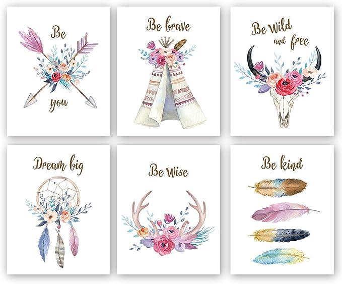 Wild /&Free Print,VARIOUS SIZES,Nursery Print,kids boys Wall prints