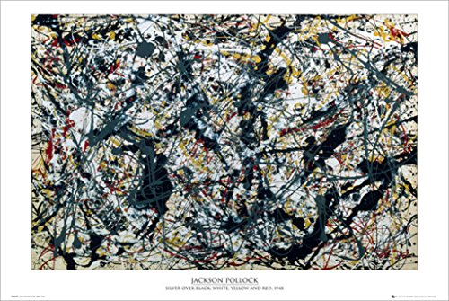 Jackson Pollock (Silver on Black) Art Poster Print for sale  Delivered anywhere in Canada