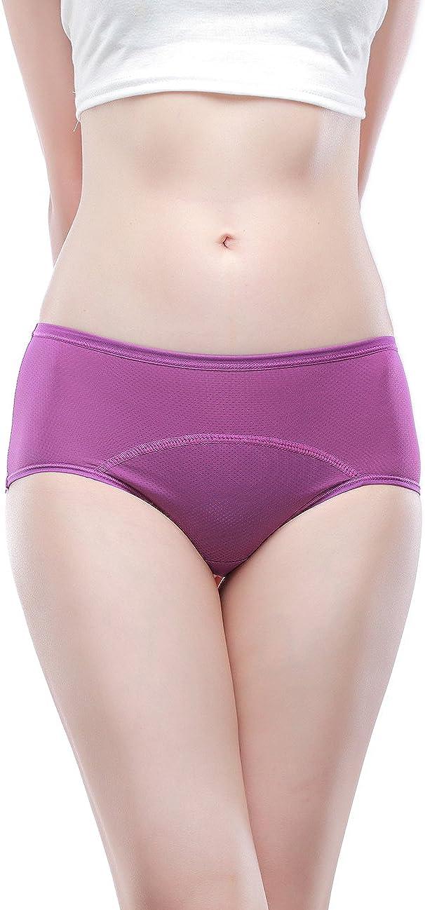Mesh Holes Breathable Leakproof Period Panties Multi Pack Size:8-16