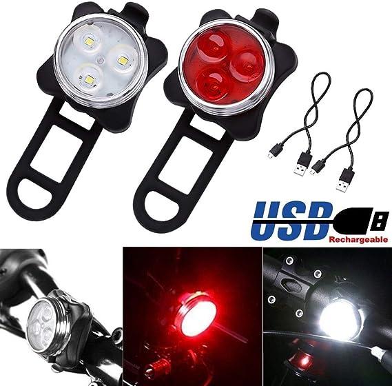 Luz LED Recargable para Bicicleta, USB, luz de Bicicleta, luz ...