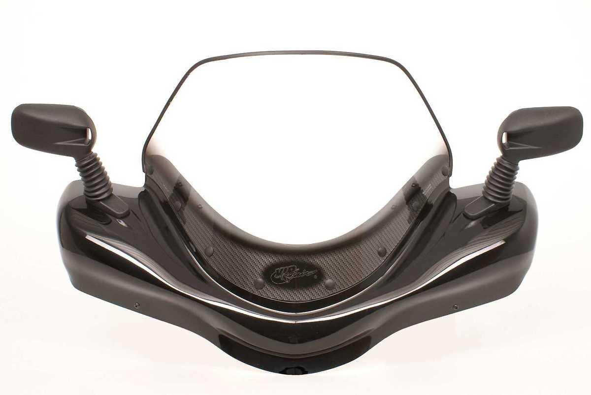 VIP-AIR 2761 Arctic Cat Mud Pro 1000 Metallic Black windshield