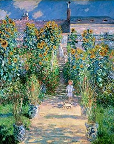 (The Artists Garden At Vetheuil 1881 Poster Print by Claude Monet (11 x 14))