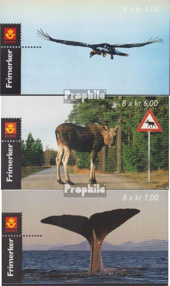 Prophila Collection Norwegen 1346MH-1348MH (kompl.Ausg.) Markenheftchen 2000 Wildlebende Tiere (Briefmarken für Sammler) Säuger Sonstige